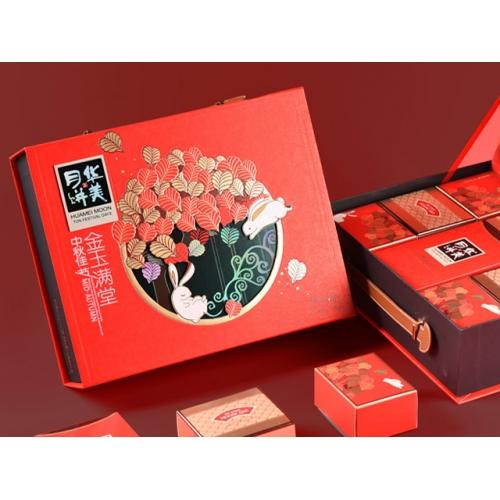 华美金玉满堂月饼礼盒840g